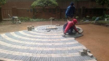 St Martins labyrinth build